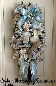 Christmas Swags Wreaths Winter Blue Crafts 2017 Merry Ideas Ornament Wreath