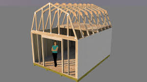 Gambrel Shed Plans 16x20 by Barn Shed Plans To Build A Shed Easily Ward Log Homes