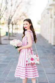 Mara On Twitter NEW POST A Feminine Striped Dress For Spring Plus