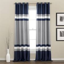 Lush Decor Curtains Canada by Awesome Navy Blue Curtains Be Efficient Collection Lighting In