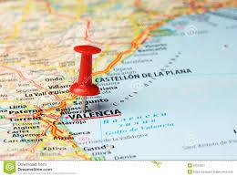 Walencja Hiszpania Mapa Obraz Stock Obraz Złożonej Z Punkt 52573507