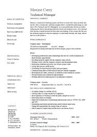 Technical Resume Examples Manager Example Sample Project Competencies Employer Jobs Tech 2016