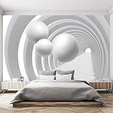 fototapete 3d 366 x 254 cm schwarz weiß tunnel
