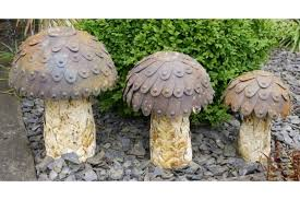 Set Of 3 Large Rusty Metal Toadstool Mushroom Garden Ornaments Red Toadstool Table Masquespacio Designs Adstoolshaped Fniture For Missana Mushroom Kids Stool Uncategorized Chez Moi By Haute Living Propbox Event Props Fniture Hire Dublin How To Make A Bistro Set Garden In Peterborough Swedish Woodland Robins Floral Side Magentarose Toadstools Fairy Garden