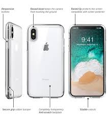 iPhone X Halo Scratch Resistant Hybrid Clear Case