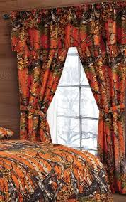 Orange Camo Curtains