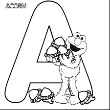 Printable Sesame Street Birthday Coloring Pages Free Characters