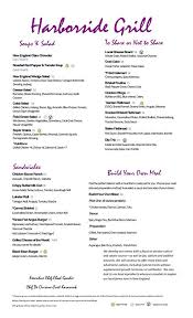 Harborside Grill And Patio Boston Ma Menu by Harborside Grill U0026 Patio Home Facebook