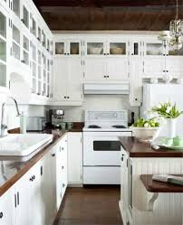 Kitchen Decorating With White Appliances Country Butcherblock
