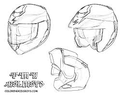 Bike Helmet Coloring Page Pages