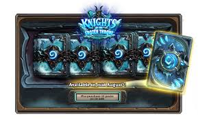 Paladin Hearthstone Deck Lich King by Knights Of The Frozen Throne Release Date August 10th