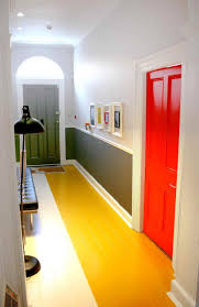 Blue Wall Paint Office Design Colourful Statement Colour Blocking Hallway