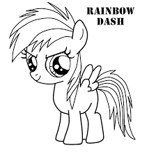 My Little Pony Rainbow Dash Coloring Book Page Sheets Flying Pages Full Size