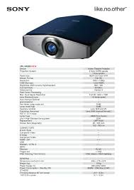 Sony Sxrd Lamp Replacement Instructions by Download Free Pdf For Sony Vpl Vw200 Projector Manual
