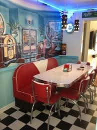 Kitchen Diner Booth Ideas by Retro Kitchen Ideas Diner Booth Chairs Tables Home Diner