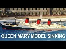 lego queen mary model sinking 7 ft model youtube