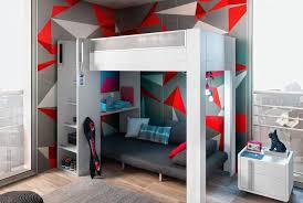 chambre lola gautier lit haut mezzanine lits gain de place gautier cadeau anais