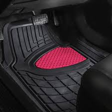 BESTFH: New 4pcs Floor Mats Set For Car Truck Mat Set Pink With Free ...
