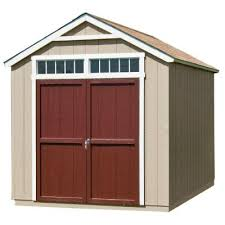 Suncast Vertical Storage Shed Home Depot by Backyard Handy Home Products Majestic 8 Ft X 12 Ft Wood Storage