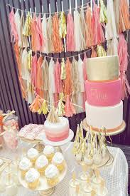 Pink And Gold Birthday Themes by Kara U0027s Party Ideas Orange Pink Gold Vibrant Girl1st Birthday Party