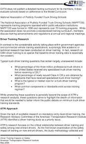 A Technical Analysis Of DRIVER TRAINING IMPACTS ON SAFETY - PDF