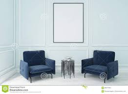 Blue Armchairs And A Poster Stock Illustration ... Living Room Ikea 21 Ways To Decorate A Small And Create Space Boss Office Products Black Traditional Style Executive Reception Waiting Chair Kettering Medical Center Area Renovation 50 Home Design Ideas That Will Inspire Productivity Cheap Chairs With Arms Modern Decoration Midcentury Armchairs For Your Next Interior Stunning Two Computers 2xhome Stacking Lucite Transparent Uv Outdoor Ding Molded Patio Kitchen Designer Armless Clear Types Visitor Shop Online At Overstock