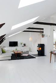 100 Interior Roof Design Large Attic White With Living Room Sloping Idea