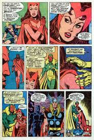 Avengers Page By Dave Cockrum The Vision Comforts Wandathe Scarlet Witch Who Is Anxious To Find Her Missing Brother Pietro