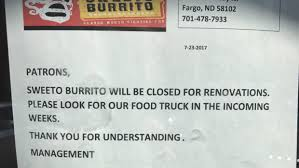 Fargo Moorhead Pumpkin Patches by Fargo Sweeto Burrito Closes For Renovations But Restaurant Hasn U0027t
