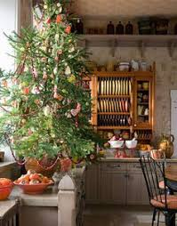 Cranberries Cookies And Gumdrops On This Kitchen Christmas Tree Primitive