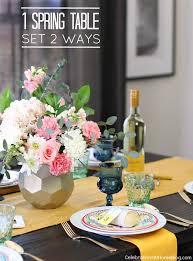 Set A Spring Table With Color