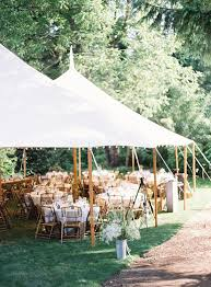 With Adorable Chic Decoration A Simple Tent Can Work Wonders For Your Backyard Wedding Reception