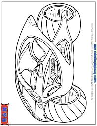 Futuristic Hyundai Motorcycle Coloring Page