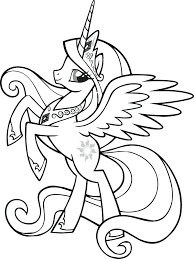 My Little Pony Pinkie Pie Coloring Pages Beautiful Queen Rainbow Dash Luna Full Size