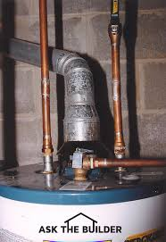 Water Tank Pipes Pictures by Water Heater Venting Ask The Builderask The Builder