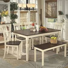 Living Essentials Whitesburg 6 Piece Dining Set In Brown And Cottage White