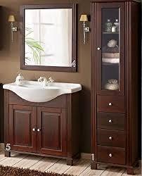 de badmöbel set retro badmöbel massivholz spiegel
