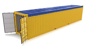 100 Shipping Container Model 40ft Open Top 3D Model