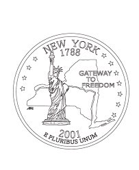 New York State Quarter Coloring Page