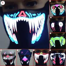 Halloween Club Purge Mask by Online Buy Wholesale Halloween Led Mask From China Halloween Led