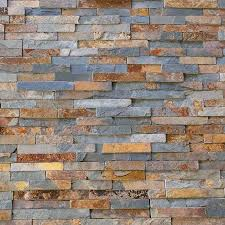 Split Face MULTI COLOUR RUSTY SLATE Natural Stone Cladding Mosaic Tile Wall