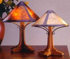 Mica Lamp Shade Company by Wood Based Table Lamps
