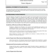 Job Description For Claims Adjuster Medium To Large Size Of Medical Processor Resume Sample