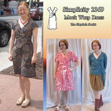 The Slapdash Sewist Simplicity 2369 Mock Wrap Border Print Dress