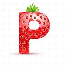 Strawberry Style Font Letter P Vector Image Of Design Elements