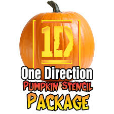 Easy Pumpkin Trace Patterns by One Direction Pumpkin Carving Package Ultimate Pumpkin Stencils