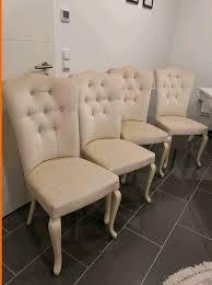 esszimmerstühle creme weiß samt 4 stk in 21423 winsen luhe