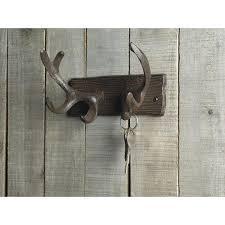 Cast Iron Deer Antlers Decorative Wall Hooks