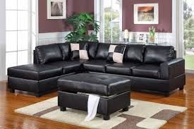 Poundex Bobkona Atlantic Sectional Sofa by Black Leather Couch