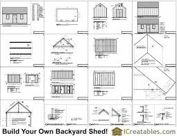 Free 12x16 Gambrel Shed Material List by 12x20 Colonial Shed Plans Build A Shed With New England Charm